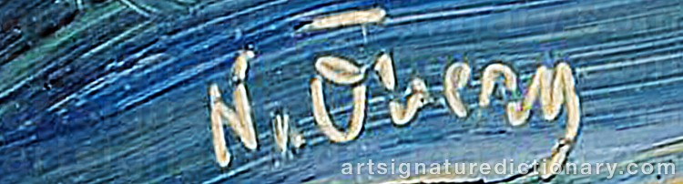 Signature by Nils ÖBERG