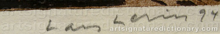 Signature by Lars LERIN