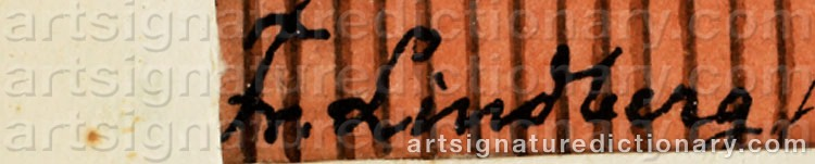 Signature by Frans LINDBERG