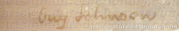 Signature by Guy JOHNSON