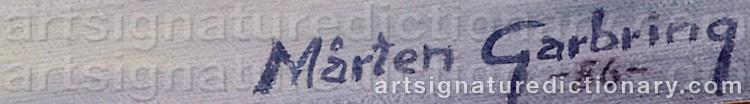 Signature by Mårten GARBRING