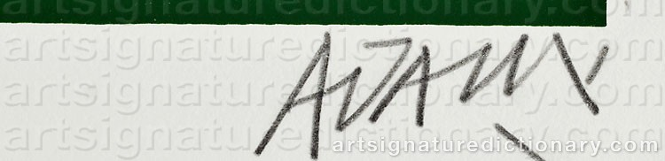 Signature by Valerio ADAMI