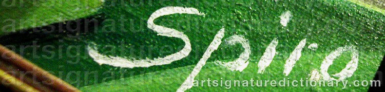 Signature by Georges SPIRO