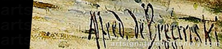 Signature by Alfred De The Elder BREANSKI