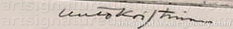 Signature by Unto KOISTINEN