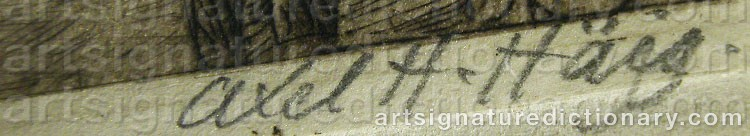 Signature by Axel Herman HÄGG