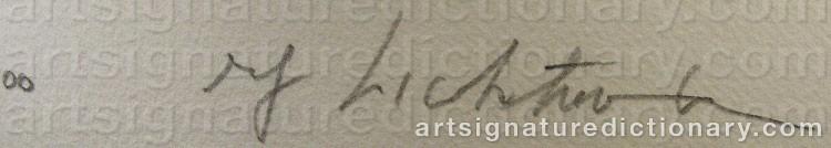 Signature by Roy LICHTENSTEIN