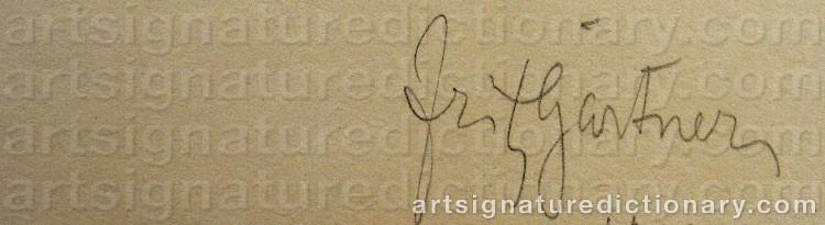 Signature by Fritz GÄRTNER