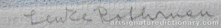 Signature by Lenke ROTHMAN