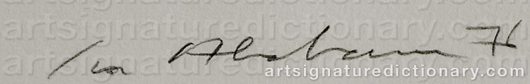 Signature by Ivor ABRAHAMS