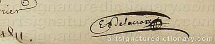 Signature by Eugène DELACROIX