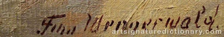 Signature by Finn WENNERWALD