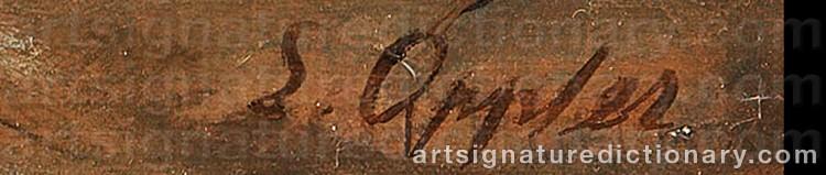 Signature by Ernst OPPLER