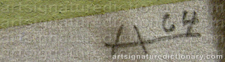 Signature by Josef ALBERS