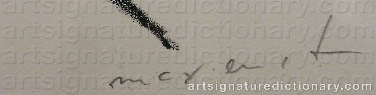 Signature by Max ERNST