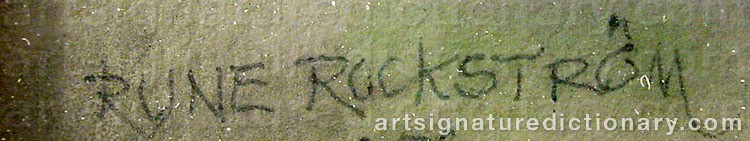 Signature by Rune ROCKSTRÖM