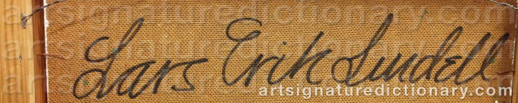 Signature by Lars Erik LINDELL