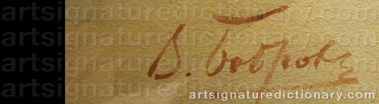 Signature by Viktor Alexejewitsch BOBROV