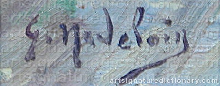 Signature by Gustave MADELAIN