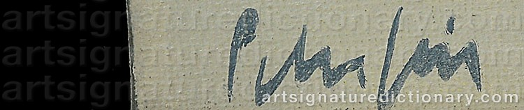 Signature by Peter FRIE