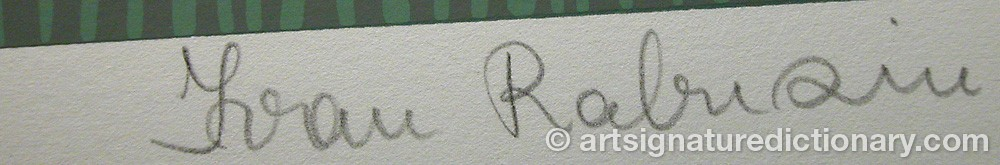 Signature by Ivan RABUZIN