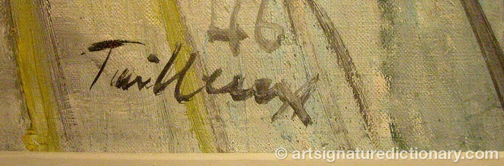 Signature by Francis TAILLEUX