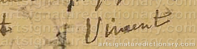 Signature by Vincent Van GOGH