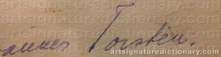 Signature by Torsten 'Torsten' ANDERSSON