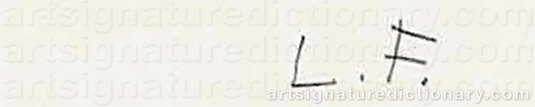 Signature by Lucian FREUD