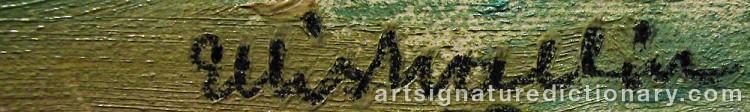 Signature by Ellis WALLIN