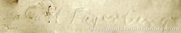 Signature by Carl FAGERBERG