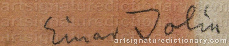 Signature by Einar JOLIN