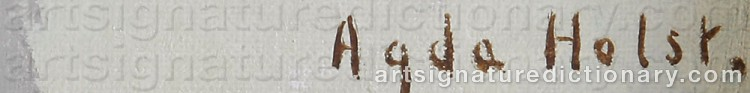 Signature by Agda HOLST