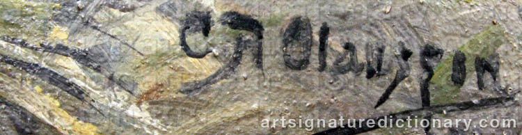 Signature by Carl August OLAUSSON