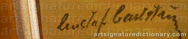 Signature by Gustaf CARLSTRÖM