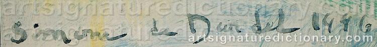 Signature by Simone De DARDEL