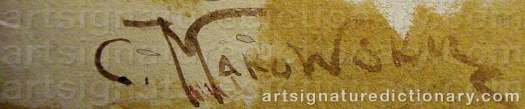 Signature by Konstantin Egorovich MAKOVSKY