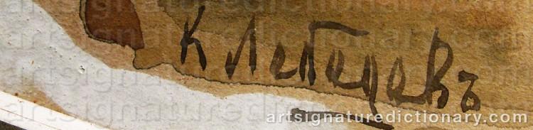 Signature by Klavdi Vasilivich LEBEDEV