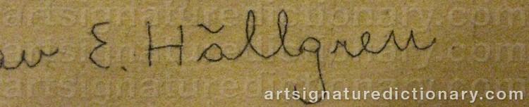 Signature by Ernst HÄLLGREN