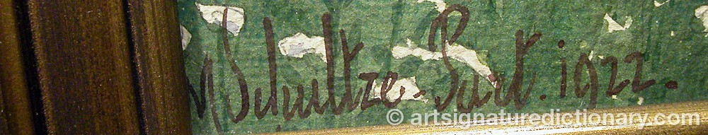 Signature by Max SCHULTZE