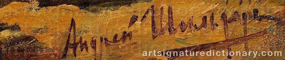 Signature by Andrei Nikolaievich SCHILDER