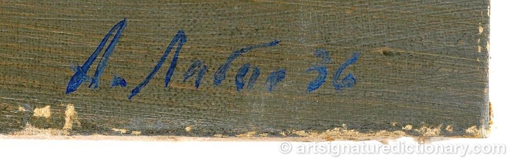 Signature by Alexander Arkadievich LABAS
