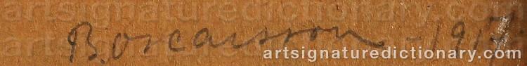 Signature by Bernhard OSCARSSON