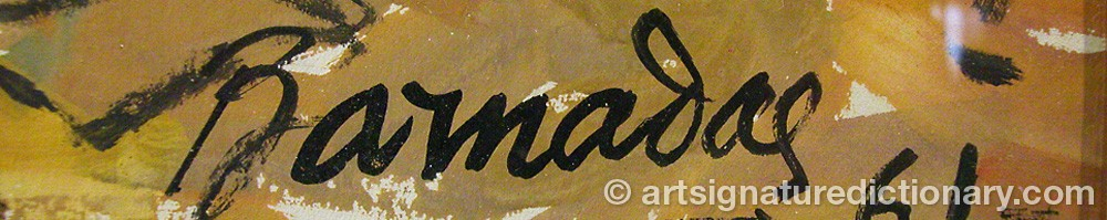 Signature by Ramon BARNADAS