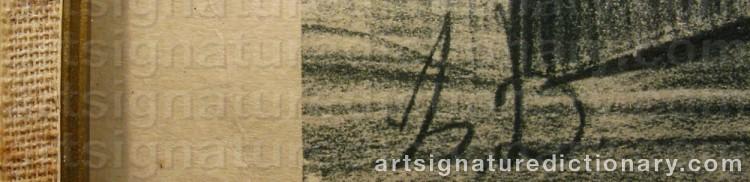Signature by Honoré DAUMIER