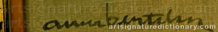 Signature by Albert BERTELSEN