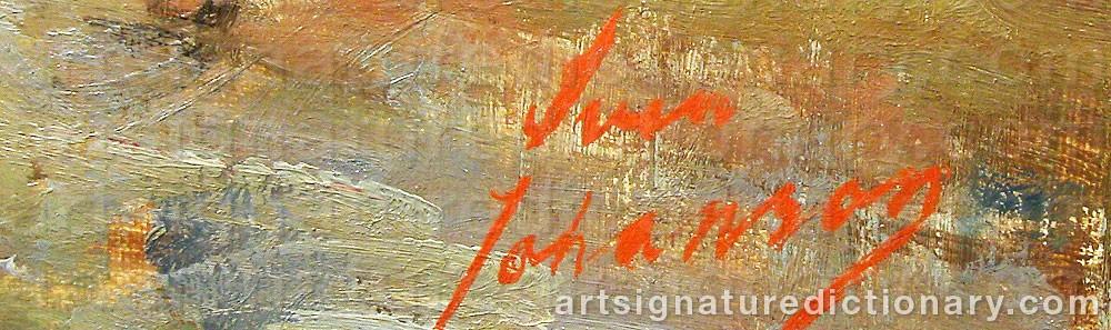 Signature by Sven JOHANSSON