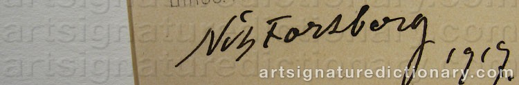 Signature by Nils The Elder FORSBERG