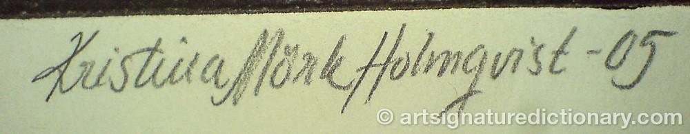 Signature by Kristina MÖRK HOLMQVIST