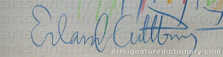 Forged signature of Erland CULLBERG